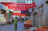 Hutong in Market Street, Beijing, China Fine-Art Print