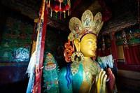Golden Maitreya Buddha, Thiksey Monastery, Thiksey, Ladakh, India Fine-Art Print