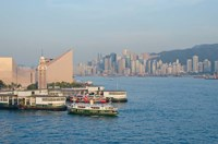 Kowloon ferry terminal and clock tower, Hong Kong, China Fine-Art Print