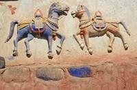 India, Ladakh, Thiksey, Indian and Buddhist gods Fine-Art Print