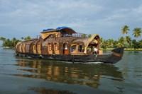 Cruise Boat in Backwaters, Kerala, India Fine-Art Print