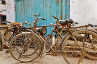 Group of bicycles in alley, Delhi, India Fine-Art Print