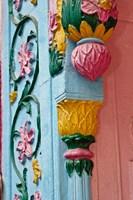 Ornate doorway detalis, Delhi, India Fine-Art Print