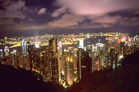 Hong Kong Skyline from Victoria Mountain, China Fine-Art Print