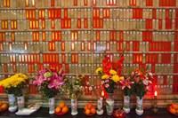 Flowers at Man Mo Buddhist Temple, Hong Kong Fine-Art Print