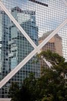 Reflections On Building, Hong Kong, China Fine-Art Print