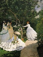 Women in the Garden, 1867 Fine-Art Print