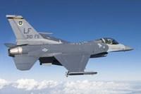 F-16C Fighting Falcon during a sortie over Arizona Fine-Art Print