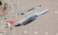 Two QF-4E Phantom II drones break over Holloman Air Force Base, New Mexico Fine-Art Print
