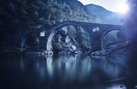 Dyavolski most arch bridge in the Rhodope Mountains, Ardino, Bulgaria Fine-Art Print