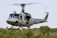A US Air Force TH-1H Huey II during a training sortie in Alabama Fine-Art Print