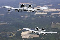 Two A-10C Thunderbolt aircraft near Moody Air Force Base, Georgia Fine-Art Print