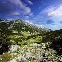 A green valley through Pirin Mountains, Pirin National Park, Bulgaria Fine-Art Print