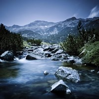 Small river flowing through the mountains of Pirin National Park, Bulgaria Fine-Art Print