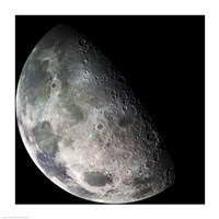 The Galileo spacecraft returned images of the Moon during its flight Fine-Art Print