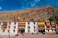 Hemis Monastery facade with craggy cliff, Ladakh, India Fine-Art Print