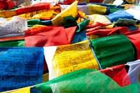 Prayer flags, Namshangla Pass, Ladakh, India Fine-Art Print