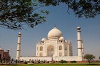 Asia, India, Taj Mahal with trees above as framing element Fine-Art Print