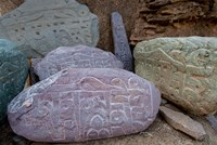 Prayer stones, Ladakh, India Fine-Art Print