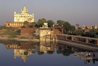 Temple Reflection and Locals, Rajasthan, India Fine-Art Print