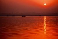Sunset over the Ganges River in Varanasi, India Fine-Art Print