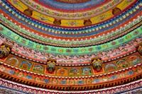 Ceiling of Shree Laxmi Narihan Ji Temple, Jaipur, Rajasthan, India. Fine-Art Print