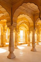 Colonnaded gallery, Amber Fort, Jaipur, Rajasthan, India. Fine-Art Print
