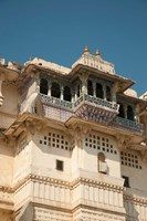 Decorated balconies, City Palace, Udaipur, Rajasthan, India. Fine-Art Print