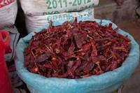 Dried chilies, Jojawar, Rajasthan, India. Fine-Art Print