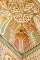 Frescoes, Ganesh Pol, Amber Fort, Jaipur, Rajasthan, India. Fine-Art Print