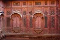 Intricately carved walls of Mehrangarh Fort, Jodhpur, Rajasthan, India Fine-Art Print