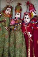 Kathputli, traditional Rajasthani puppets, Pushkar, Rajasthan, India Fine-Art Print