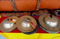 Brass cymbals at Hemis Monastery, Ladakh, India Fine-Art Print