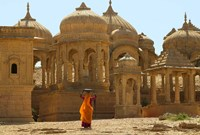Bada Bagh with Royal Chartist and Finely Carved Ceilings, Jaisalmer, Rajasthan, India Fine-Art Print