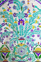Decorated Tile Painting at City Palace, Udaipur, Rajasthan, India Fine-Art Print