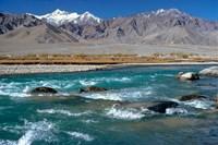 India, Ladakh, Indus River, Himalaya range Fine-Art Print