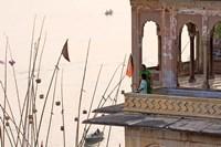 Daily Life Along The Ganges River, Varanasi, India Fine-Art Print