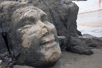 Famous Face of Shiva on the Rock on Vagator Beach, Goa, India Fine-Art Print
