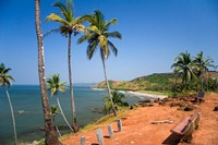 Goa, India. Big and Little Vagator beaches Fine-Art Print