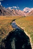 India, Ladakh, Pensila, Mountain stream Fine-Art Print