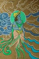 Shilpgram Craft Village and Mural Detail, India Fine-Art Print