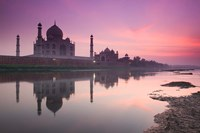 Taj Mahal From Along the Yamuna River at Dusk, India Fine-Art Print