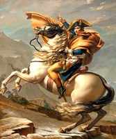 Napoleon Crossing the Alps at the St Bernard Pass Fine-Art Print