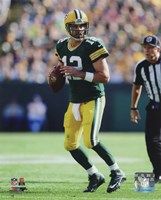 Aaron Rodgers 2014 holding the ball Fine-Art Print