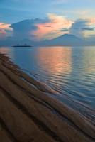 Indonesia, Bali Sanur Beach with Mount Gunung Agung Fine-Art Print