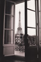 Eiffel Tower through French Doors Fine-Art Print