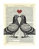 Pigeons in Love Fine-Art Print
