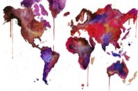 Watercolor Map No. 1 Fine-Art Print