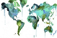 Watercolor Map No. 6 Fine-Art Print