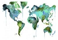 Watercolor Map No. 6 Fine-Art Print